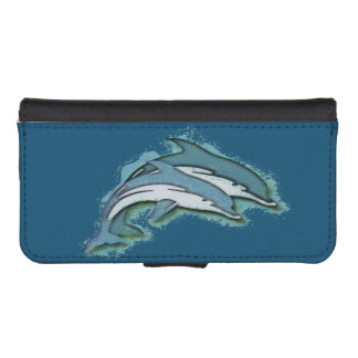 SYNCHRONIZED DOLPHINS iPhone 5 WALLET CASE
