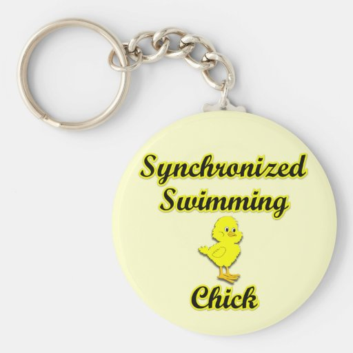 Synchronized Swimming Chick Key Chains