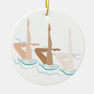 Synchronized Swimming Christmas Ornament