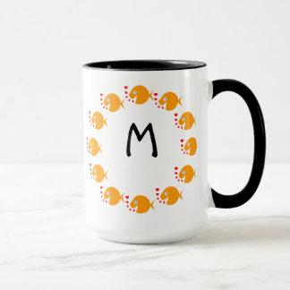 Synchronized Swimming Goldfish Cute Monogram