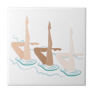 Synchronized Swimming Small Square Tile