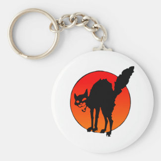 Syndicalist's cat basic round button key ring