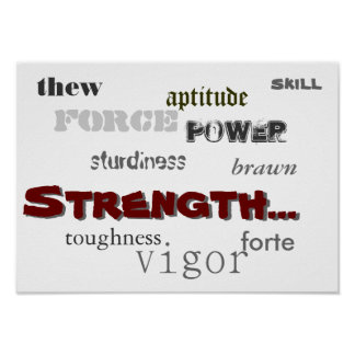 Synonyms of Strength Poster