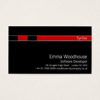 Syntax Black & Red Business Card