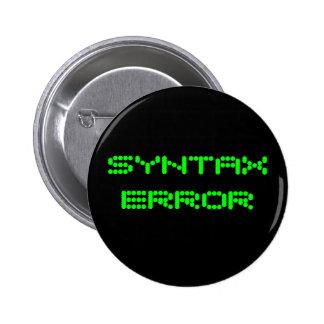 SYNTAX ERROR Pin