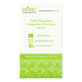 Syntec Nutraceutical, Business Card