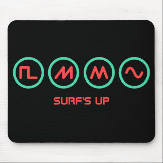 "Synth Waveforms ""Surf's Up"" Mouse Pad"