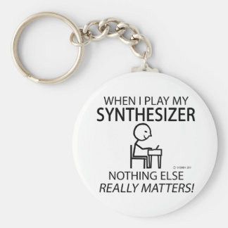 Synthesizer Nothing Else Matters Basic Round Button Key Ring