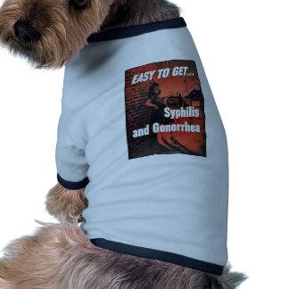 Syphilis And Gonorrhea Dog Tee Shirt
