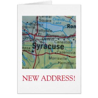 Syracuse New Address announcement