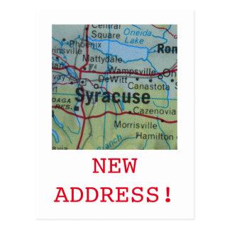 Syracuse New Address announcement Postcard