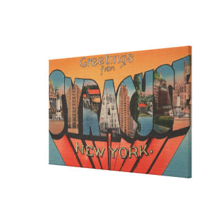 Syracuse, New York - Large Letter Scenes 2 Gallery Wrapped Canvas