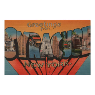 Syracuse, New York - Large Letter Scenes 2 Poster
