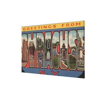 Syracuse, New York - Large Letter Scenes Canvas Prints