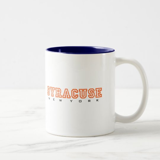 Syracuse, New York - Letters Two-Tone Coffee Mug
