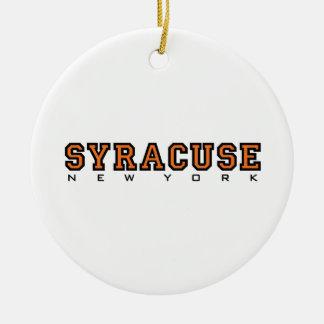 Syracuse, New York - Ltrs2 Christmas Ornament