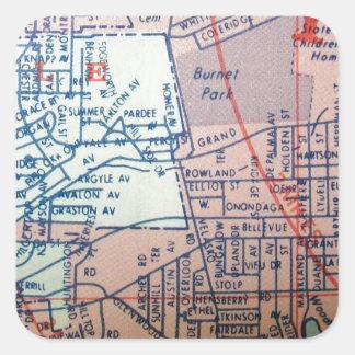 SYRACUSE, NY Vintage Map Square Sticker