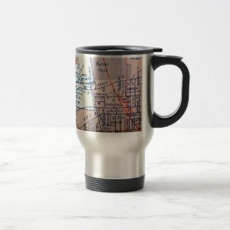 SYRACUSE, NY Vintage Map Travel Mug