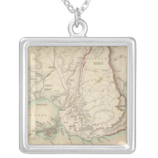 Syracuse & remaining vestiges of its five cities silver plated necklace