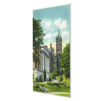 Syracuse U Campus View Showing Crouse College Stretched Canvas Prints
