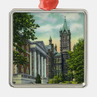 Syracuse U Campus View Showing Crouse College Christmas Ornament