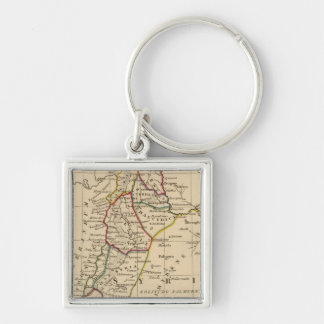 Syria 2 Silver-Colored square key ring