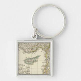 Syria and the neighboring Silver-Colored square key ring