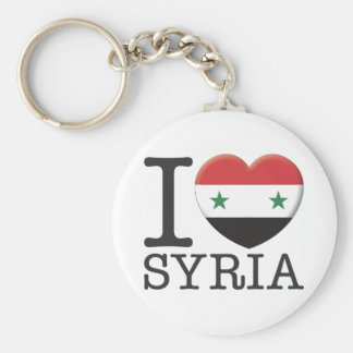 Syria Basic Round Button Key Ring