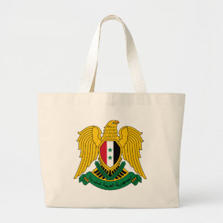 syria coat of arms large tote bag