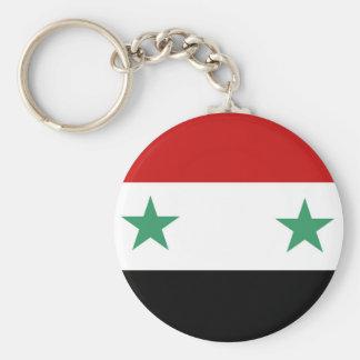 Syria country flag nation symbol basic round button key ring