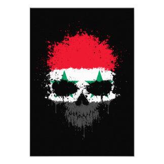 Syria Dripping Splatter Skull Invitations