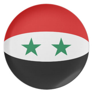 Syria Fisheye Flag Plate