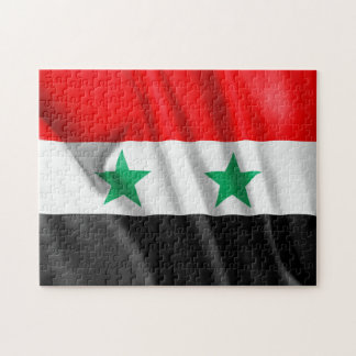 "Syria Flag 11"" x 14"" Photo Puzzle with Gift Box"