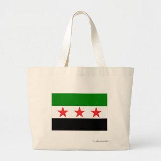Syria Flag (1932-1958 and 1961-1963) Jumbo Tote Bag