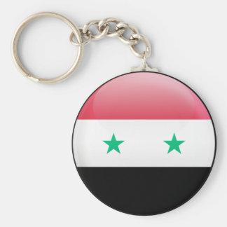Syria Flag Basic Round Button Key Ring