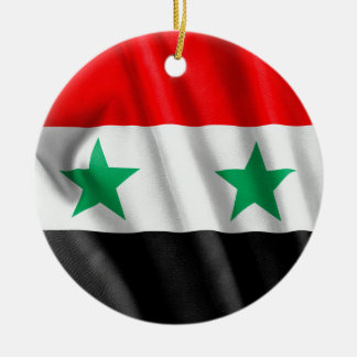 Syria Flag Circle Ornament
