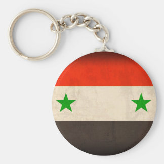 Syria Flag Distressed Keychain