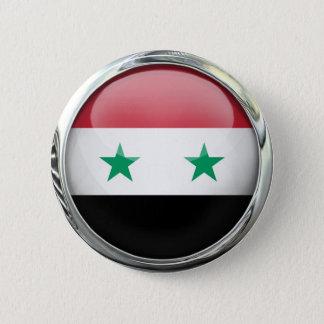 Syria Flag Glass Ball 6 Cm Round Badge