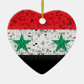 Syria Flag glitter ornament