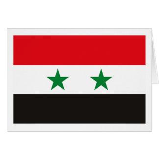Syria Flag Greeting Card