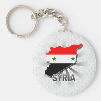 Syria Flag Map 2.0 Basic Round Button Key Ring