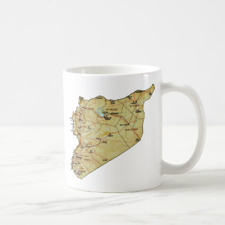 Syria Flag ~ Map Mug