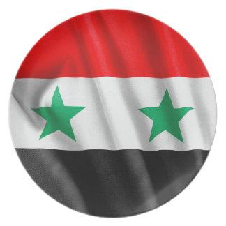 Syria Flag Melamine Plate