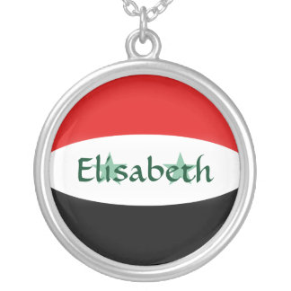 Syria Flag + Name Necklace