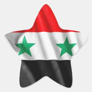 Syria Flag Star Sticker