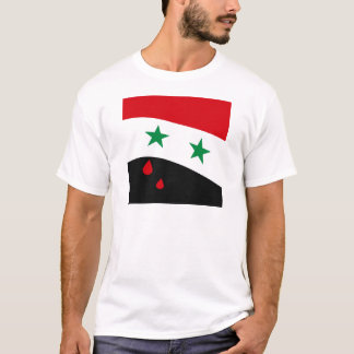Syria Flag waving with blood red tears T-Shirt