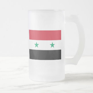 syria frosted glass beer mug