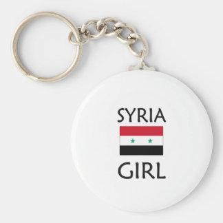 SYRIA GIRL BASIC ROUND BUTTON KEY RING