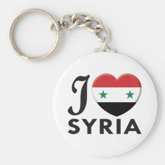 Syria Love Basic Round Button Key Ring