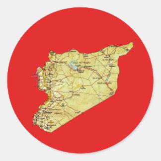 Syria Map Sticker
